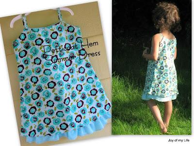 Sewing: Petticoat Hem Summer Dress