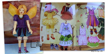 Lily Paper Doll Fairy Sticker Dress Up Play