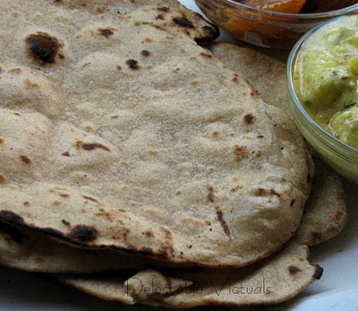 Simple Roti Indian flat bread whole wheat