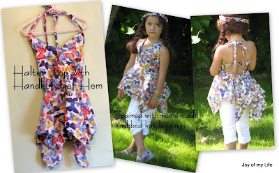 Sewing: Halter Top with Handkerchief Hem