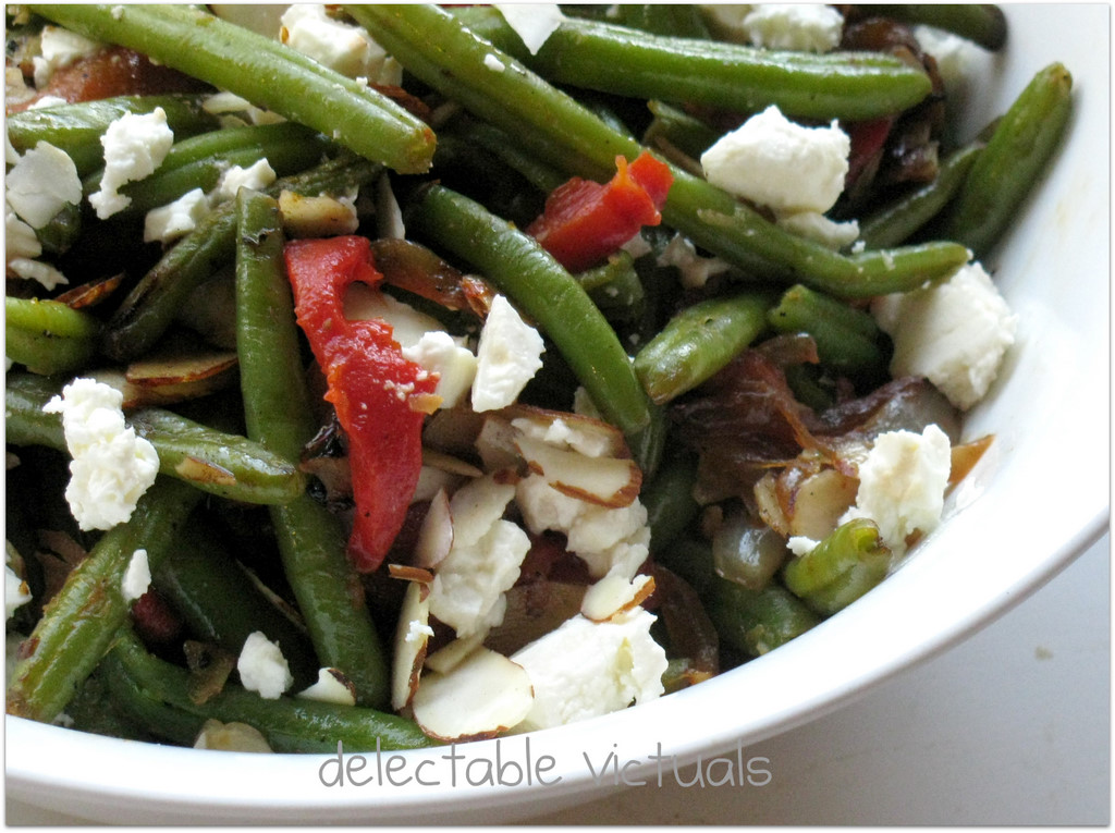 ... : Green Bean Salad with Marinated Feta and Roasted Red Bell Peppers