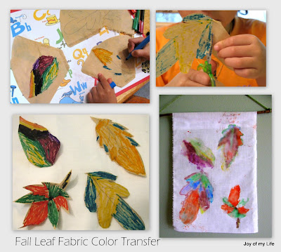 Kids Crafts: Fabric Color Transfer Fall Foliage Flag