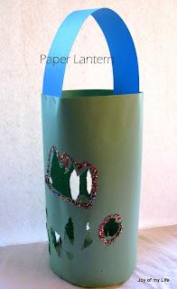 kids craft paper lantern