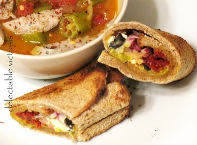 Rolled Bread Sandwiches