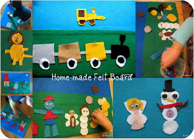 Kids Activity: Feltboard home-made