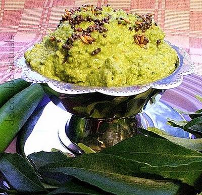 easy recipe curry leaf chutney and dosai