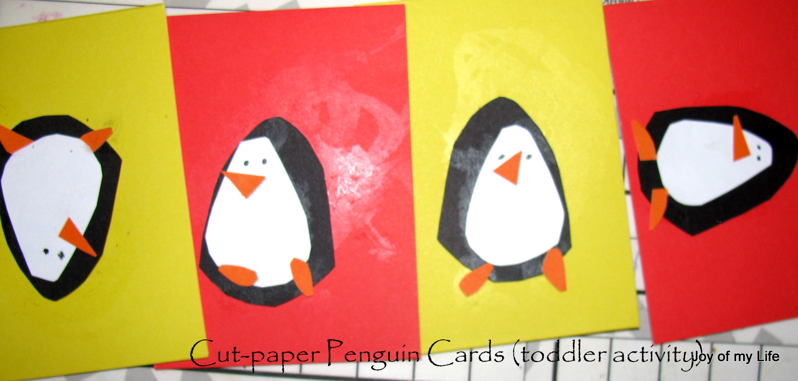 The Joy of My Life, and other things: Kids Craft: Easy Paper Penguins
