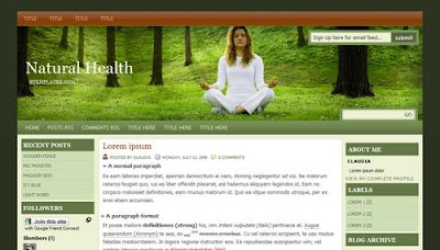 Template Natural Health