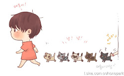 Junsu and the cats!!
