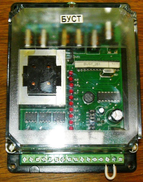 Ручное регулирование мощности с помощью внешнего переменного резистора 10 ком.