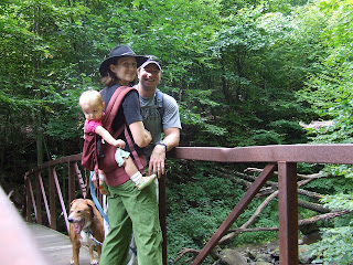 Em, Jason, Sierra and Casey on bridge along Rose River Falls trail, Shenandoah National Park