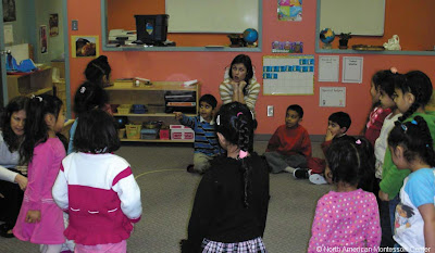 NAMC montessori activities resources Valentine&#39;s day circle time