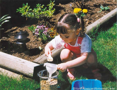NAMC montessori activities culture science easter springtime girl gardening