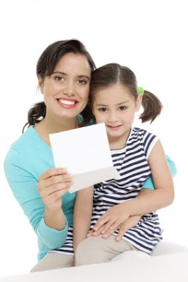 NAMC montessori character education activities language of virtue take home mother and girl with note