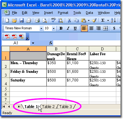 The table and select insert as table you can see the for Excel table design