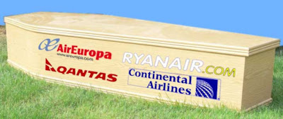 Coffin airlines presents Qantas AirEuropa Continental Ryanair