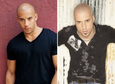 Vin diesel with his twin brother car interior design