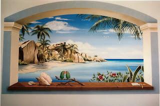 Bottega d 39 arte arcadia paesaggi tropicali for Paesaggi marini dipinti