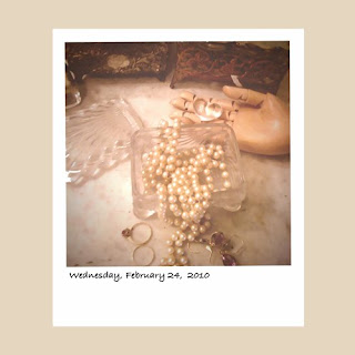 pearls jewelry box iPhone polaroid photography iphoneography