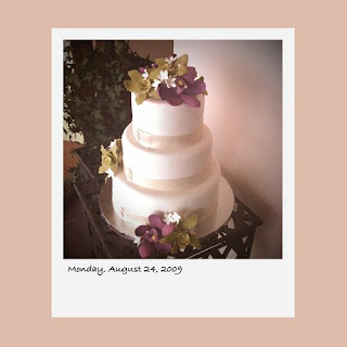 iPhone polaroid, wedding cake