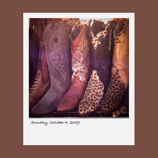 Antiques By The Bay, vintage cowboy boots, iPhone polaroids