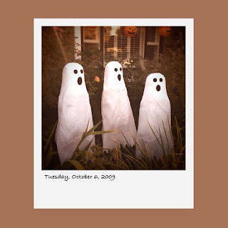 Halloween ghosts, iPhone polaroid