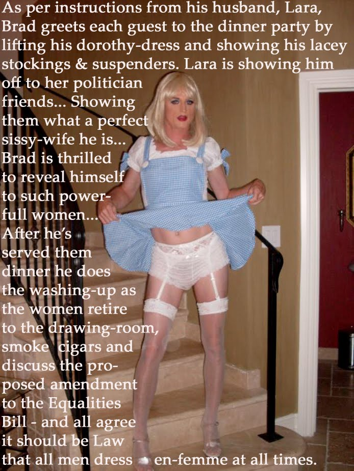 submissive sissy-wife to