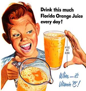 El Origen del Mundo: Florida Orange Juice Vintage Advertising