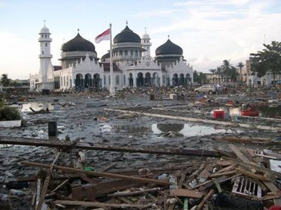 Tsunami in Aceh Indonesia
