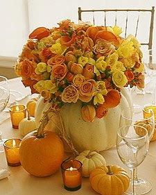 pumpkin wedding flower