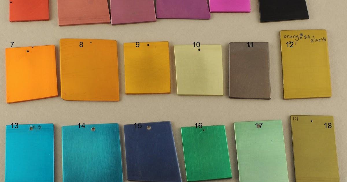 blue aluminum: anodizing dyes