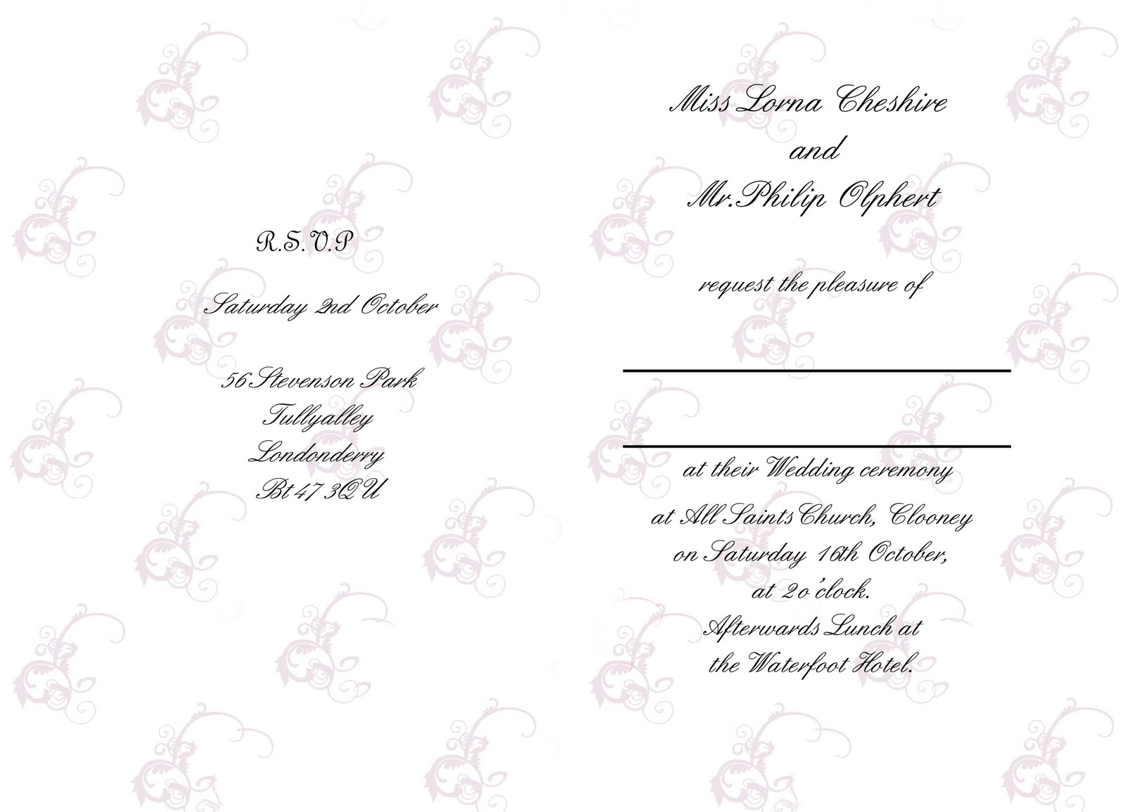 articles wedding reception order service