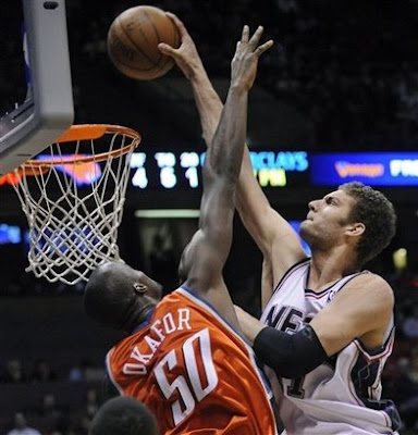 emeka okafor dunk. Brook Lopez Dunks On Emeka