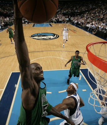 paul pierce dunking on lebron. kevin garnett dunking the ball