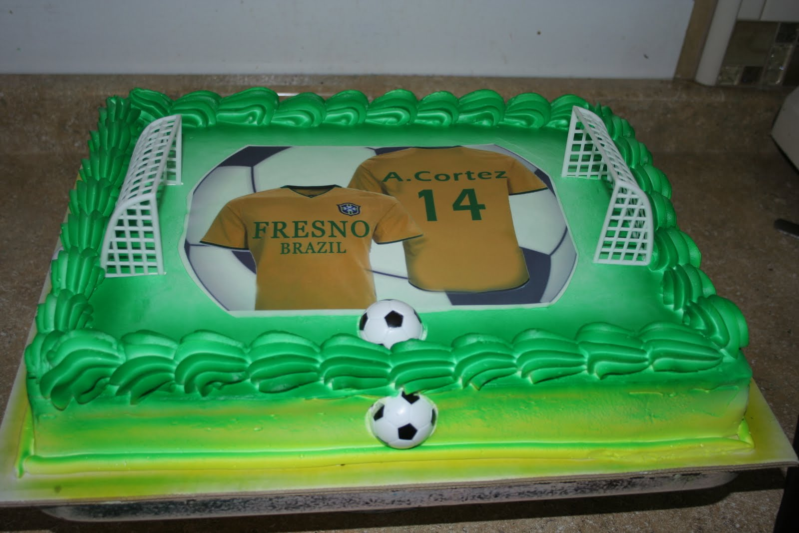 Hectors Custom Cakes Fresno Brazil Soccer Team