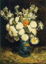 flowers in a blue vase, 1886