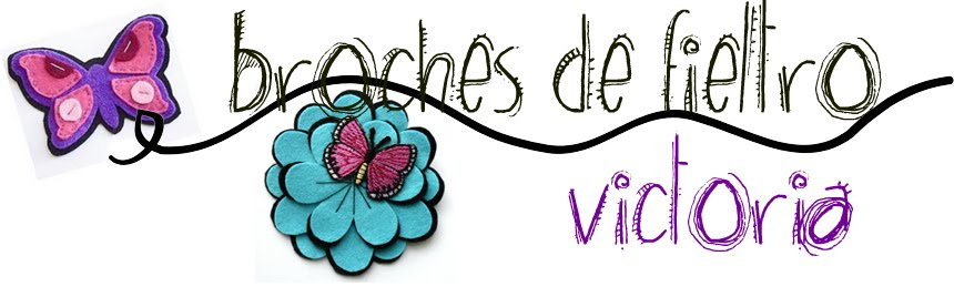 Broches de Fieltro Victoria