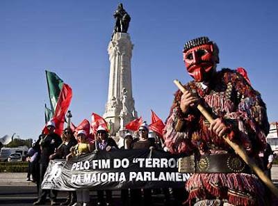 Manif, 13 mar 2009. Foto: Miguel A. Lopes/LUSA