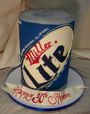 beer can cake. like the actual eer can,
