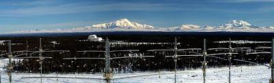 Vista parcial de las instalaciones HAARP en Alaska