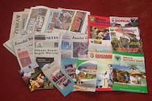 Surat Kabar dan Majalah hasil penyerahan dari para penerbit.