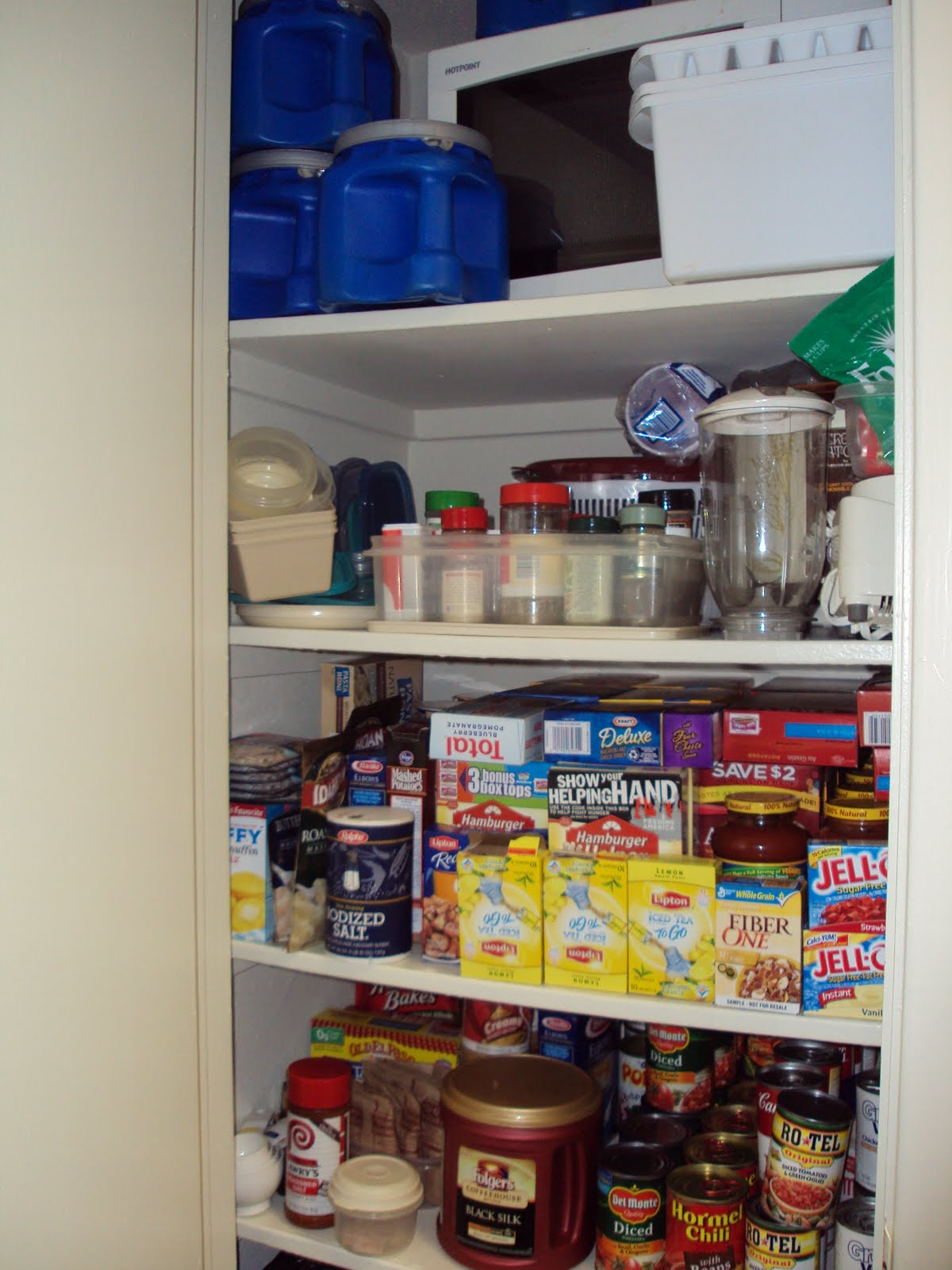 Organized pantry before and after