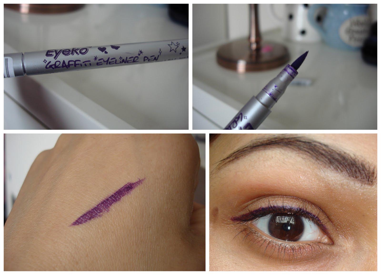 Get Gawjus!: 'You CAN wear Blue' EOTD + Purple Eyeliner!