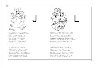 Alfabetização letra J e L