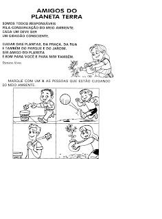 ATIVIDADE AMIGOS DO PLANETA TERRA para crianças