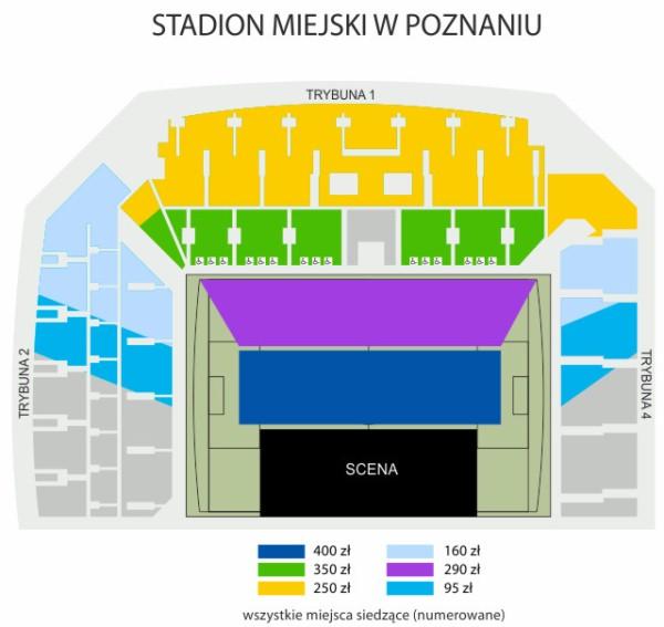 sektory koncert stadion Lecha