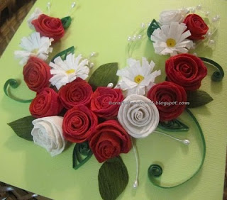 Craft ideas for all paper quilled rose and daisy wall art tutorial mightylinksfo