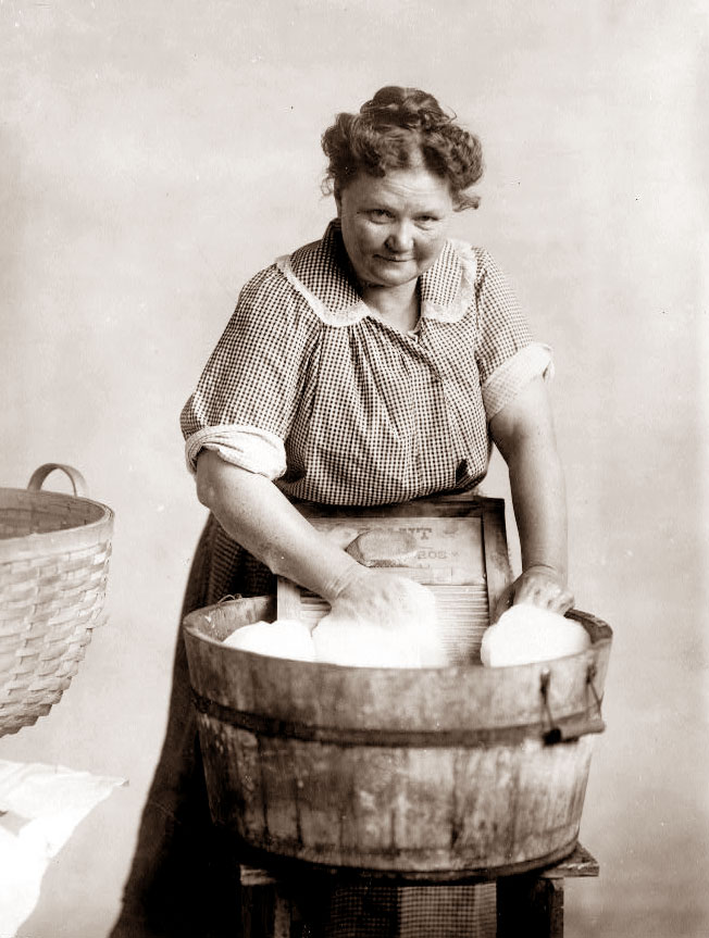 old wash woman
