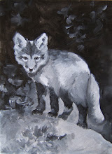 Baby Fox, underpainting
