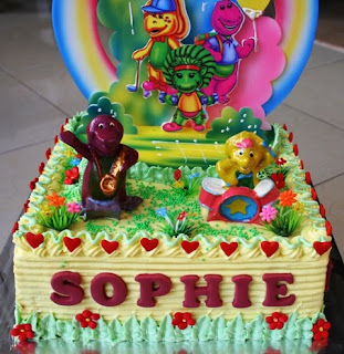 Barney Birthday Cake on Joris  Kitchen  Barney S Birthday Cake For Sophie